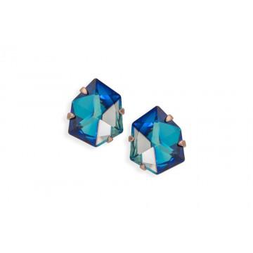 Pendientes piedra azul